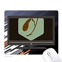 体の器官の胆嚢 ノンスリップラバーマウスパッドはコンピュータゲームのオフィス