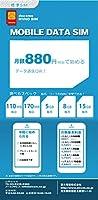 docomo MVNO データSIM 月額880円(税抜)~購入月データ使用料無料! 【標準サイズ】 (5GB/月 コース(月額1389円), 購入月+1ケ月データ通信料)