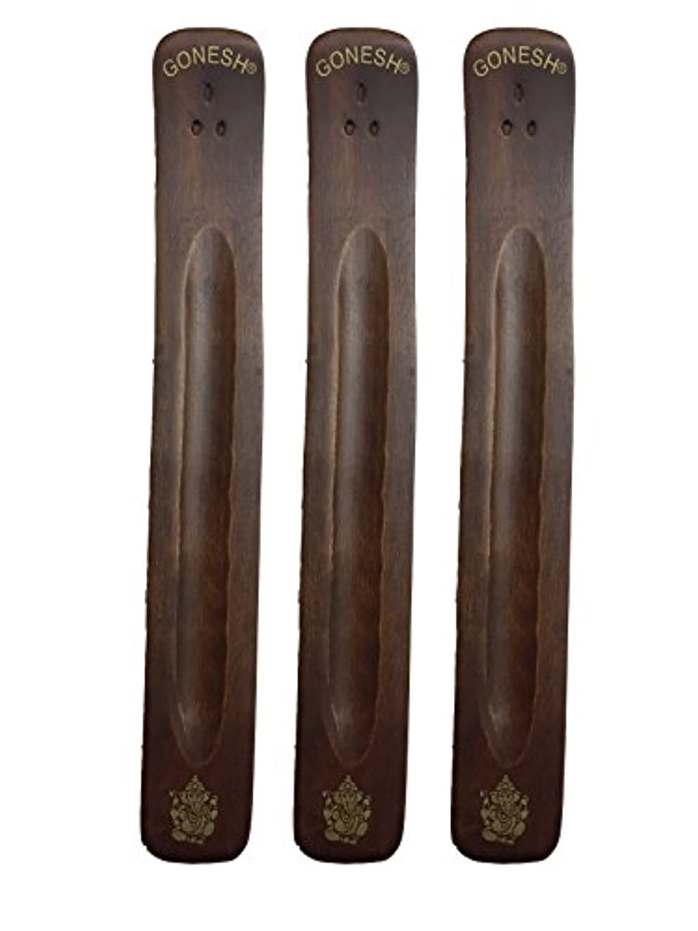 プランテーション恨み逸脱3パックGonesh Incense Burner ~ Traditional Incense Holder with Inlaidデザイン~約11インチ、のさまざまなデザイン