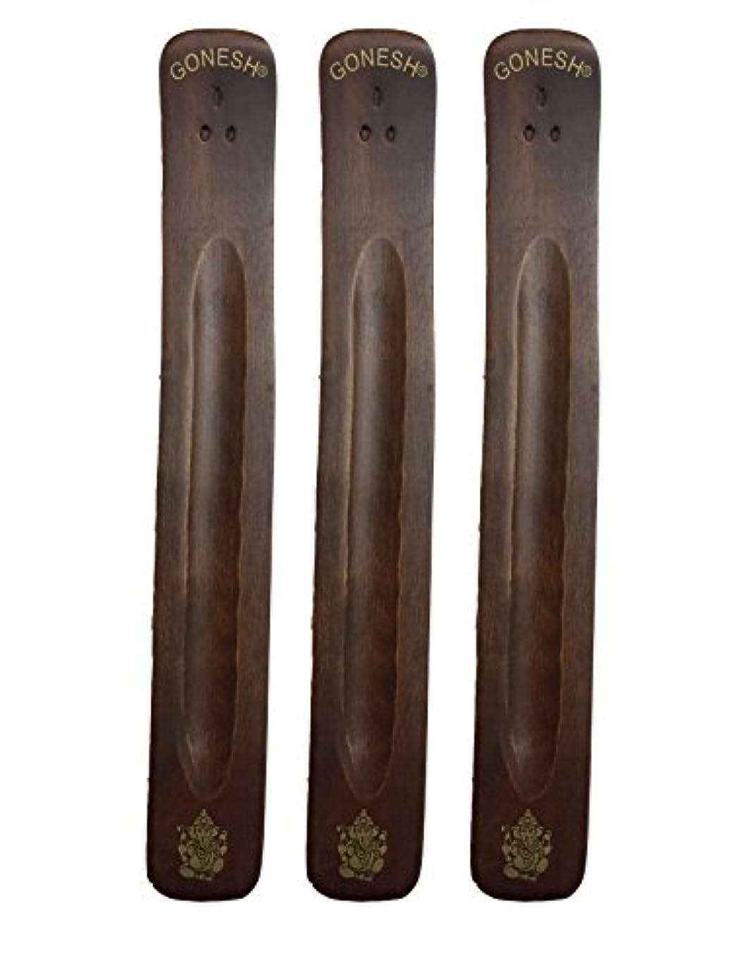 成果自動的に傷つきやすい3パックGonesh Incense Burner ~ Traditional Incense Holder with Inlaidデザイン~約11インチ、のさまざまなデザイン