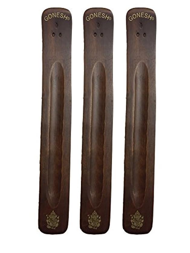 ロケット後世才能3パックGonesh Incense Burner ~ Traditional Incense Holder with Inlaidデザイン~約11インチ、のさまざまなデザイン