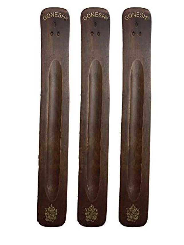 コミュニケーションタイトル寮3パックGonesh Incense Burner ~ Traditional Incense Holder with Inlaidデザイン~約11インチ、のさまざまなデザイン
