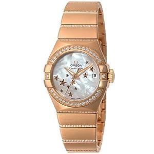 [オメガ]OMEGA 腕時計 Constellation ホワイトパール文字盤 コーアクシャル自動巻き ダイヤモンド 123.55.27.20.05.004 レディース 【並行輸入品】