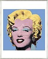 ポスター アンディ ウォーホル マリリンモンロー 1964 (Blue) 額装品 アルミ製ベーシックフレーム(ライトブロンズ)