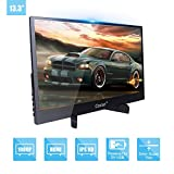 Portable Gaming Monitor 13.3 inch IPS Screen Super Thin Metal Casing HD 1920x1080P 5mm Display for PC Laptop Movie PS4 XBox DVD Dual HDMI 5V USB TYPE-C Powered LED Backlight Built-in Speaker Audio Out