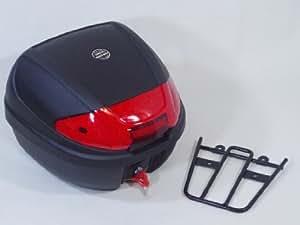 【リアボックス30L+PCX125/150用リアキャリア付き】WORLD-WALK製高耐久トップケース フォーカラーズレンズ 4色のレンズ付き ワンプッシュで取り外し可能 汎用ハードケース 取り付けに必要な台座・ネジ類が付いたフルセット!今ならボックスインナー付き!