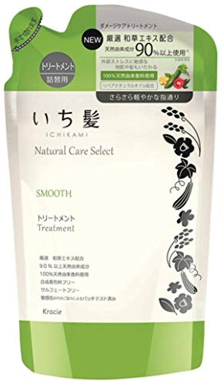 いち髪ナチュラルケアセレクト スムース(さらさら軽やかな指通り)トリートメント詰替340g ハーバルグリーンの香り