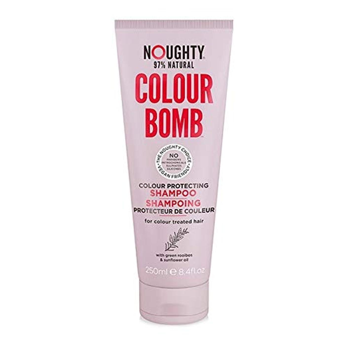 ストレスの多いパノラマ中断[Noughty] シャンプー250ミリリットルを保護Noughtyカラー爆弾の色 - Noughty Colour Bomb Colour Protecting Shampoo 250ml [並行輸入品]