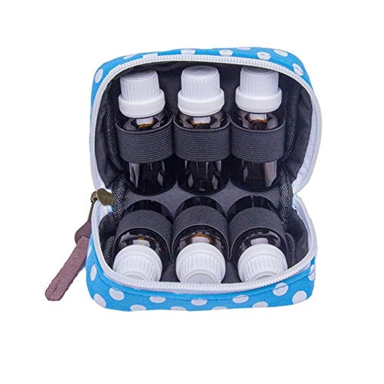 誤ってゆでる誰でもPursue エッセンシャルオイル収納ケース アロマオイル収納ボックス アロマポーチ収納ケース 耐震 携帯便利 香水収納ポーチ 化粧ポーチ 6本用