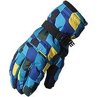 冬スキー手袋メンズ防水ウォーム手袋カップルエクササイズグローブダークブルー