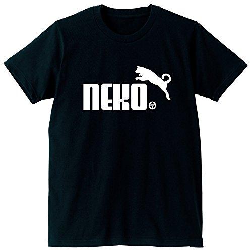NEKO鈴 猫 おもしろ Tシャツ 雑貨【M】【黒】