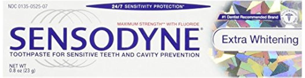 かる爪怒ってSensodyne Toothpaste, Extra Whitening Travel Size 0.8 Oz (Pack Of 3) by Sensodyne