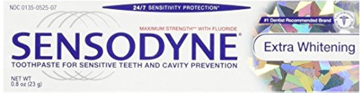 できれば特異な悩みSensodyne Toothpaste, Extra Whitening Travel Size 0.8 Oz (Pack Of 3) by Sensodyne