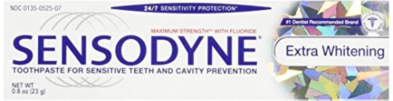 衝突する葉を拾う春Sensodyne Toothpaste, Extra Whitening Travel Size 0.8 Oz (Pack Of 3) by Sensodyne