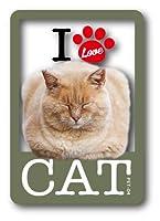 PET-04 I LOVE CAT!ステッカー04 ステッカー 猫好きの方に!