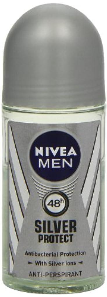 鳴り響くエンドテーブル笑ニベア メンズ シルバープロテクト ロールオン デオドラント 48時間 アンチパースピラント 50ml (透明) 並行輸入品 Nivea for Men Silver Protect Anti-Perpirant Roll-on...