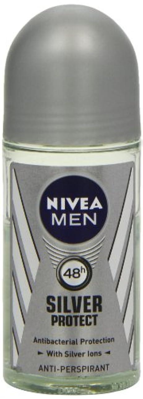 安息涙ベリーニベア メンズ シルバープロテクト ロールオン デオドラント 48時間 アンチパースピラント 50ml (透明) 並行輸入品 Nivea for Men Silver Protect Anti-Perpirant Roll-on...