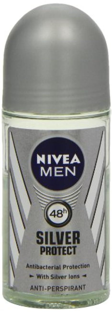 完璧ステンレスデイジーニベア メンズ シルバープロテクト ロールオン デオドラント 48時間 アンチパースピラント 50ml (透明) 並行輸入品 Nivea for Men Silver Protect Anti-Perpirant Roll-on...