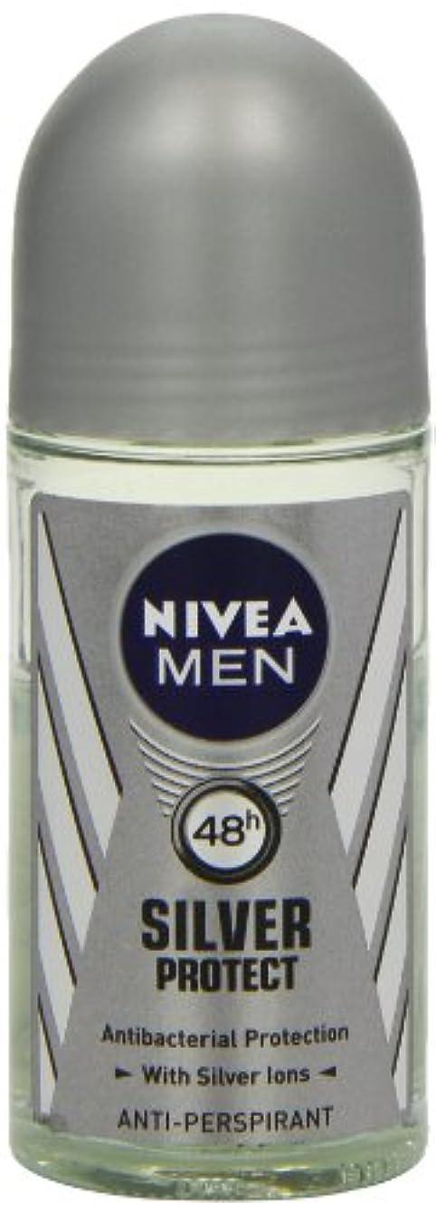 蒸し器ドライブ抵抗力があるニベア メンズ シルバープロテクト ロールオン デオドラント 48時間 アンチパースピラント 50ml (透明) 並行輸入品 Nivea for Men Silver Protect Anti-Perpirant Roll-on...