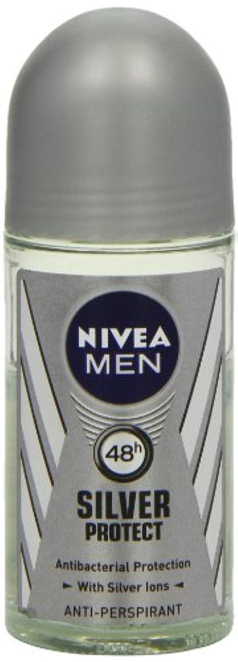無視ポケット戸棚ニベア メンズ シルバープロテクト ロールオン デオドラント 48時間 アンチパースピラント 50ml (透明) 並行輸入品 Nivea for Men Silver Protect Anti-Perpirant Roll-on...