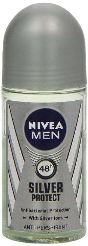 南西勧める寮ニベア メンズ シルバープロテクト ロールオン デオドラント 48時間 アンチパースピラント 50ml (透明) 並行輸入品 Nivea for Men Silver Protect Anti-Perpirant Roll-on...