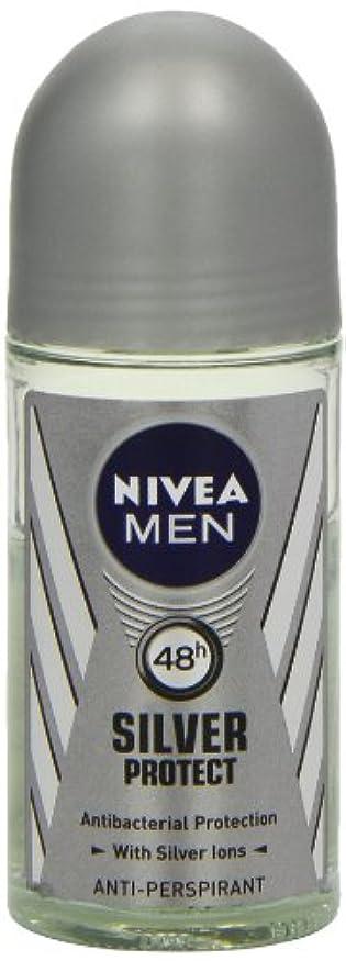けがをする邪魔宣教師ニベア メンズ シルバープロテクト ロールオン デオドラント 48時間 アンチパースピラント 50ml (透明) 並行輸入品 Nivea for Men Silver Protect Anti-Perpirant Roll-on...
