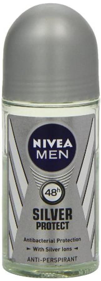 ニベア メンズ シルバープロテクト ロールオン デオドラント 48時間 アンチパースピラント 50ml (透明) 並行輸入品 Nivea for Men Silver Protect Anti-Perpirant Roll-on...