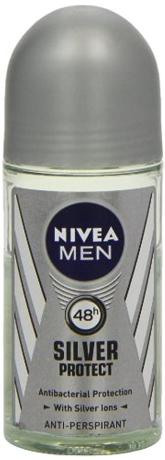 ノイズスラッシュフェロー諸島ニベア メンズ シルバープロテクト ロールオン デオドラント 48時間 アンチパースピラント 50ml (透明) 並行輸入品 Nivea for Men Silver Protect Anti-Perpirant Roll-on...