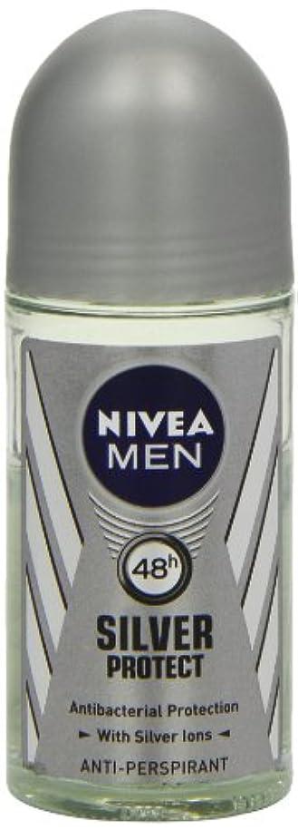 レベルいう遠いニベア メンズ シルバープロテクト ロールオン デオドラント 48時間 アンチパースピラント 50ml (透明) 並行輸入品 Nivea for Men Silver Protect Anti-Perpirant Roll-on...