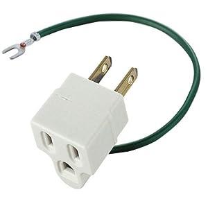 エレコム 電源タップ 変換アダプタ 3ピン→2ピン アース付きコンセント T-H32