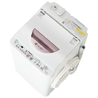 SHARP タテ型洗濯乾燥機 穴なし槽カビぎらい ピンク系 洗濯容量6.0kg ES-TG60L-P