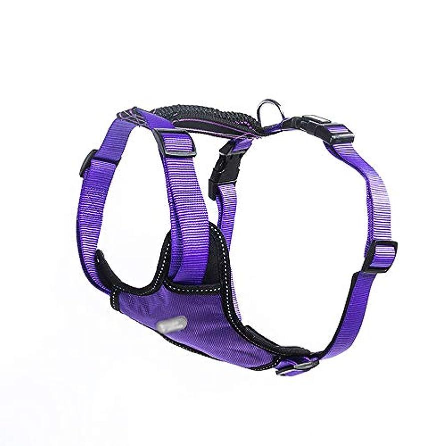 傘瞑想的アソシエイトLinannau フロントクリップ、トレイルランニング、ウォーキング、ハイキング、終日着用のデイリーハーネス (色 : 紫の, サイズ : S)