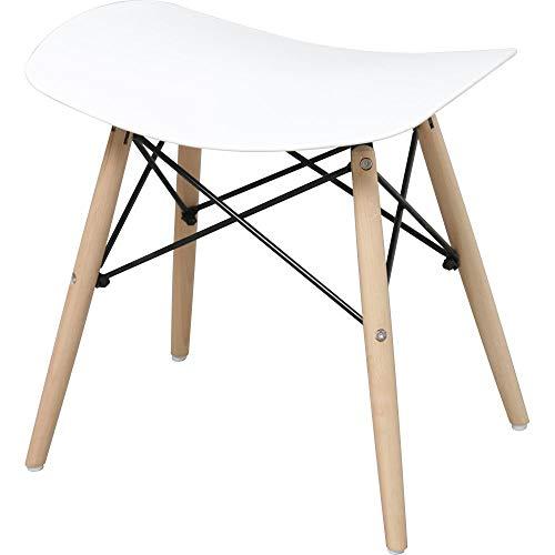 新型イームズカラーのプラスチック製の腰掛け椅子家庭用の食卓椅子コンピュータスツール (ホワイト)