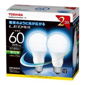 東芝ライテック LED広配60W昼白色 LDA8NG/60W2P 2個