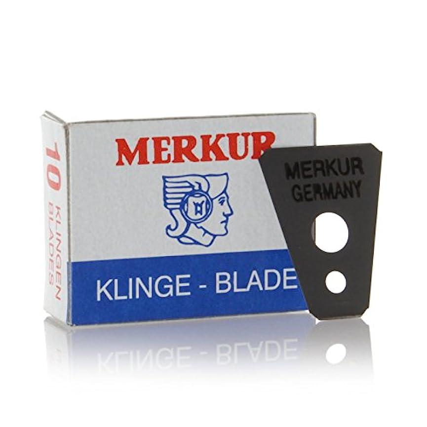 安定したメジャー不承認MERKUR Solingen - Razor blades for moustache shaver, 10 pieces, 90908100