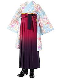 ジュニア女の子 着物袴セット 帯?襦袢付 ショート丈