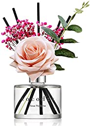 Cocod'or Rose Flower Reed Diffuser, Rose Perfume Reed Diffuser, Home Decor & Office Decor, Fragrance A