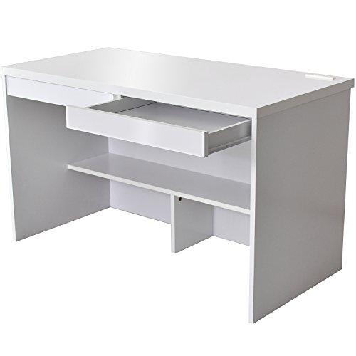 RoomClip商品情報 - DORIS デスク パソコンデスク 机 天板鏡面仕上げ 足元収納 引き出し コンセント2口 幅120cm 組み立て式 ホワイト ロータス