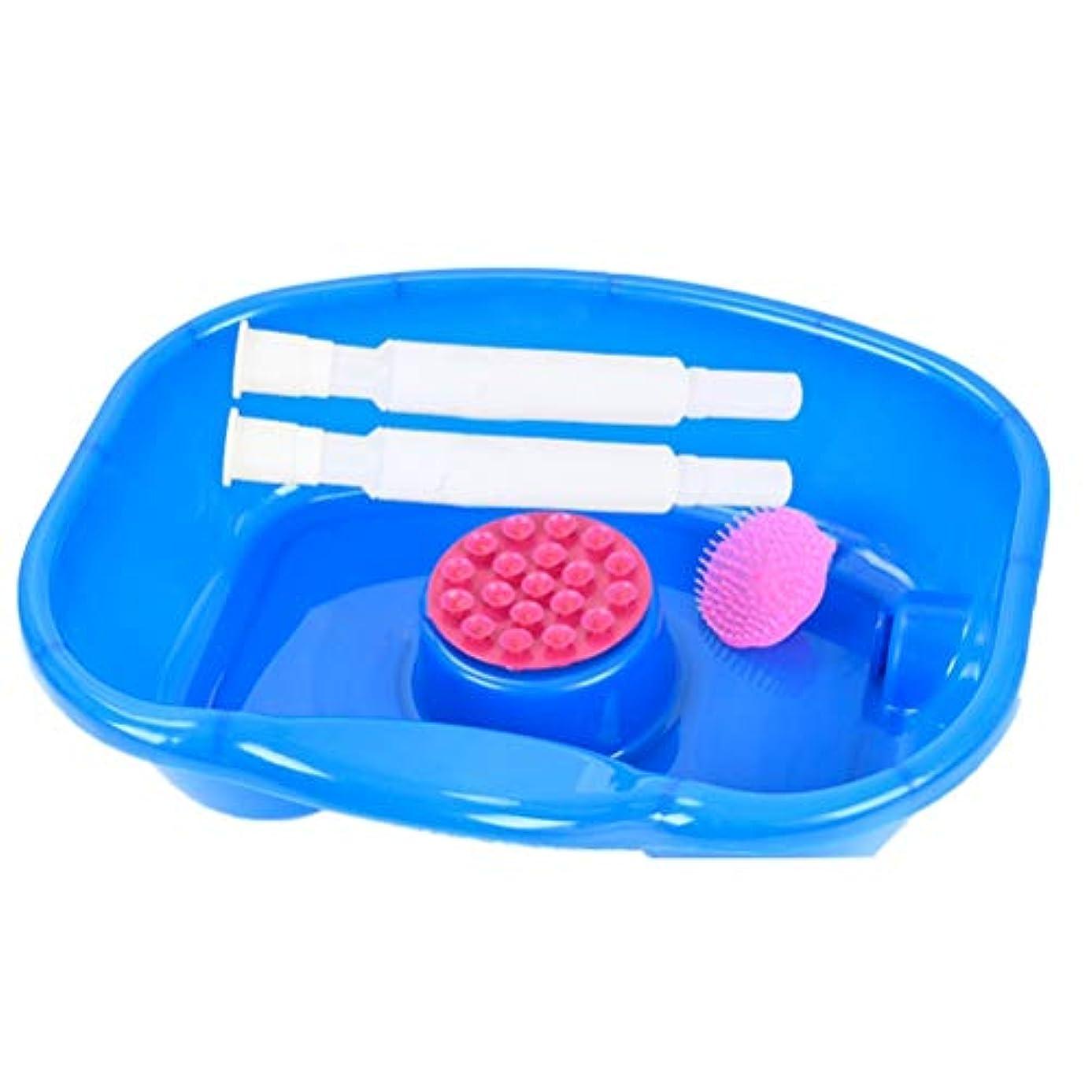 偽造歯痛子豚看護ベッドシャンプー流域、障害者&高齢者のベッド簡単、妊娠、寝たきりや手術後の患者、ベッド閉じ込め患者のための洗髪フェラは厚く、シャンプー盆地キットベッドサイド