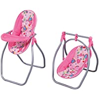 Baoblaze シミュレーション 新生児人形 幼児人形のため ハイチェア クレードル スイング 2色 - ピンク