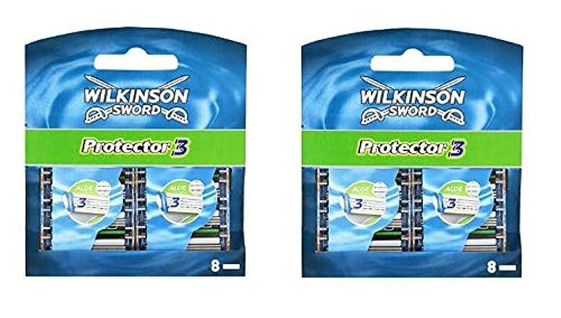 栄光のウミウシ舗装シック (Wilkinson Sword) プロテクタースリー 替刃 16コ入