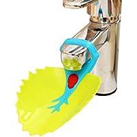 McHo 木の葉 手洗いサポートウォーターガイド 手洗い補助パーツ子供独立育成向け 踏み台 キッズ用 洗面所パーツ 手洗いグッズ ベビー用品手洗い補助 2個セット