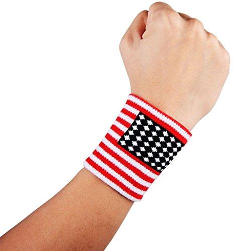 (クールオーエムジー)COOLOMG リストバンド 汗止め よく伸びる ショートタイプ スウッシュ 刺繍 無地 黒 白 赤 2個組