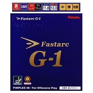 ファスタークG1 ニッタク 卓球ラバー 攻撃用裏ソフトラバー NR-8702 中 ブラック