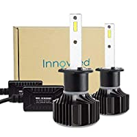 Innovited H1 60W 9000LM 6000K Cool White CSP LED Headlight Bulbs Conversion Kit2 Yr Warranty [並行輸入品]