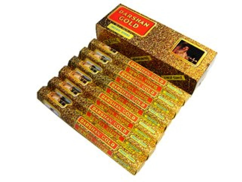 大気火山の落胆するDARSHAN(ダルシャン) ゴールド香 スティック DARSHAN(ダルシャン) 6箱セット