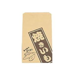 遠藤商事 使い捨て容器 薄茶色 縦×横(mm):280×160(マチ無し) 業務用 焼きいも 販売用紙袋 GYK5801 100個セット
