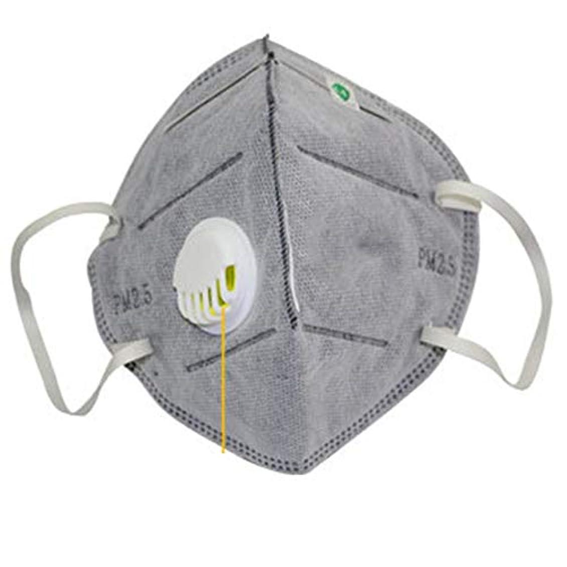 いたずら不十分引退した男性と女性の健康と美容のパーソナルケア製品用の活性炭PM2.5防曇とヘイズ保護マスク (Panda) (色:白)