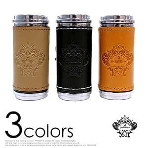 (オロビアンコ)Orobianco 革貼り筒型携帯灰皿 カラー ライトブラウン