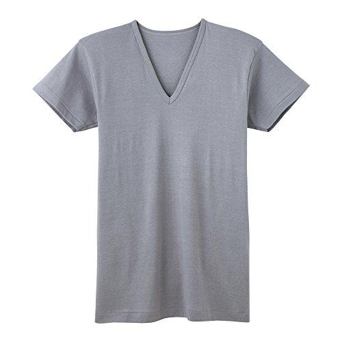 (グンゼ)GUNZE インナーシャツ 夏ひんやり Vネック半袖 2枚組 RB47152 98 ライトグレー M